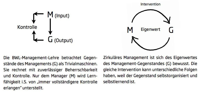 Reflexives Management oder auch zirkul&#228;res Management
